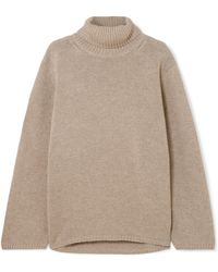 Totême  - Cambridge Merino Wool And Cashmere-blend Turtleneck Sweater - Lyst