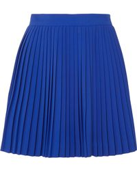 Brandon Maxwell - Pleated Crepe Mini Skirt - Lyst