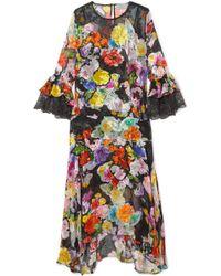 Preen By Thornton Bregazzi - Madeleine Devoré Silk-blend Chiffon Midi Dress - Lyst