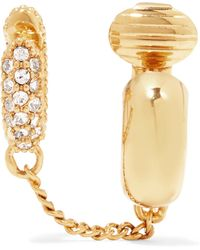 Chloé - Carly Gold-plated Crystal Clip Earring - Lyst