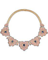 Buccellati - 18-karat Yellow And White Gold Multi-stone Necklace - Lyst