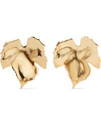 Oscar de la Renta - Grape Leaf Gold-tone Clip Earrings - Lyst