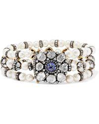 Amrapali - Pearl, Tanzanite And Diamond Bracelet - Lyst