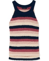 J.Crew - Striped Cotton-blend Tank - Lyst
