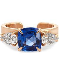 Anita Ko - 18-karat Rose Gold, Sapphire And Diamond Ear Cuff - Lyst
