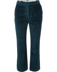 Altuzarra - Adler Cropped Cotton-corduroy Flared Trousers - Lyst