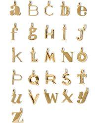 Monica Vinader - A-z Alphabet Letter Gold Vermeil Pendants - Lyst