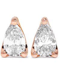 Anita Ko - 18-karat Rose Gold Diamond Earrings - Lyst