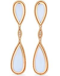 Fernando Jorge - Fluid 18-karat Rose Gold, Diamond And Chalcedony Earrings - Lyst
