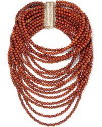 Rosantica - Arizona Gold-tone Beaded Necklace - Lyst