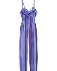 La Perla - Striped Stretch-silk Jumpsuit - Lyst