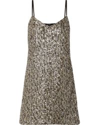 Anna Sui - Twinkling Stars At Night Sequined Mesh Mini Dress - Lyst