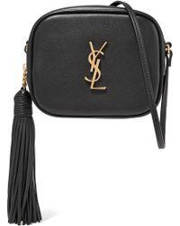 Saint Laurent - Monogram Blogger Mini Leather Crossbody Bag - Lyst