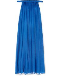Three Graces London - Evangeline Off-the-shoulder Ramie Maxi Dress - Lyst
