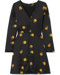 1cc0d3a5c7e Madewell - Floral-print Crepe De Chine Mini Dress - Lyst