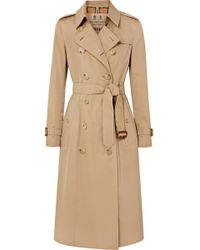 Burberry - The Chelsea Long Cotton-gabardine Trench Coat - Lyst