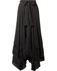 Zimmermann - Hanky Lace-trimmed Swiss-dot Silk-georgette Skirt - Lyst