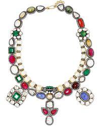 Amrapali - 18-karat Gold And Sterling Silver Multi-stone Necklace - Lyst