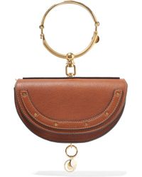 Chloé | Nile Small Textured-leather Shoulder Bag | Lyst