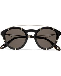 Givenchy - Round-frame Acetate And Gold-tone Sunglasses - Lyst