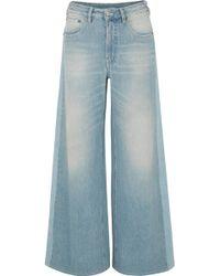 MM6 by Maison Martin Margiela - High-rise Wide-leg Jeans - Lyst