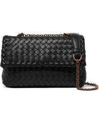 Bottega Veneta - Baby Olimpia Small Intrecciato Leather Shoulder Bag - Lyst