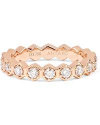 Anita Ko - 18-karat Rose Gold Diamond Ring - Lyst