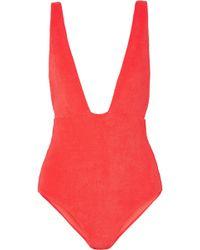 Mara Hoffman - Audrey Cotton-blend Terry Swimsuit - Lyst