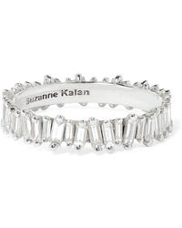 Suzanne Kalan | 18-karat White Gold Diamond Ring | Lyst