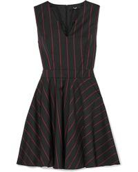 Versus - Striped Wool Mini Dress - Lyst