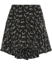 Mes Demoiselles - Frikette Printed Silk Mini Skirt - Lyst