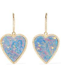 Jennifer Meyer - 18-karat Gold, Diamond And Opal Earrings - Lyst