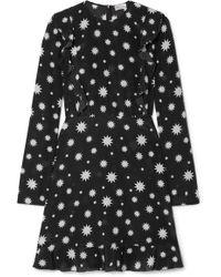 RED Valentino - Realization Printed Silk-crepe Mini Dress - Lyst
