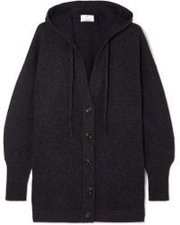 Allude - Hooded Wool And Cashmere-blend Cardigan - Lyst