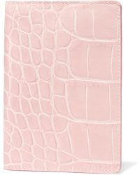 The Case Factory - Croc-effect Leather Passport Cover - Lyst