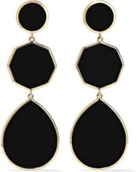 Ippolita - Polished Rock Candy 18-karat Gold Onyx Earrings - Lyst