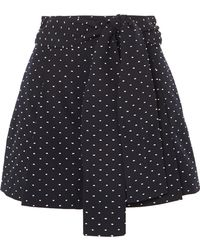 J.Crew - Black Lake Embroidered Cotton Shorts - Lyst