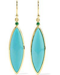 Ippolita - Prisma 18-karat Gold, Turquoise And Tsavorite Earrings - Lyst