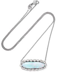 Kimberly Mcdonald | 18-karat White Gold, Opal And Diamond Necklace | Lyst