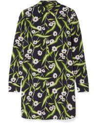 Equipment - Brett Printed Washed-silk Mini Dress - Lyst