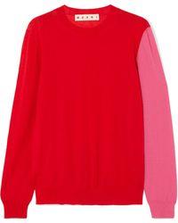 Marni - Color-block Cashmere Sweater - Lyst