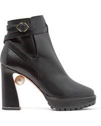 Nicholas Kirkwood - Annabel Embellished Leather Boots - Lyst