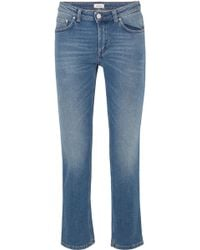 Totême  - Cropped Mid-rise Straight-leg Jeans - Lyst