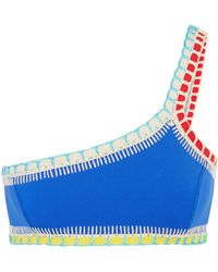 KIINI - Tuesday One-shoulder Crochet-trimmed Bikini Top - Lyst
