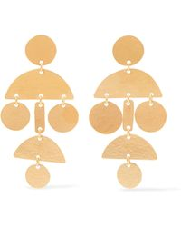 Annie Costello Brown | Mini Pompom Gold-tone Earrings | Lyst