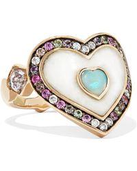 Noor Fares - Anahata 18-karat Grey Gold Multi-stone Ring - Lyst