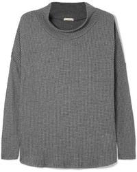 Eberjey - Ula Waffle-knit Modal-blend Top - Lyst