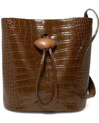 Rejina Pyo - Naomi Embellished Croc-effect Leather Tote - Lyst