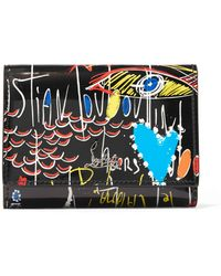 Christian Louboutin - Boudoir Printed Patent-leather Wallet - Lyst