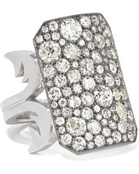 Sylva & Cie - 18-karat White Gold, Sterling Silver And Diamond Ring - Lyst